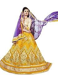 Maroosh Women's Yellow Colour Bollywood style lehenga choli