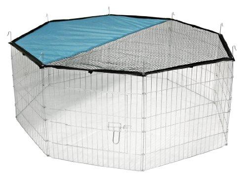 Kerbl Freigehege aus 8 Gittern, verzinkt, mit Netz und Tür,...