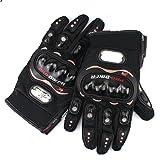 Generic Black Carbon Fiber Pro Bike Motorcycle Motorbike Racing Full Gloves Size M L XL (M)