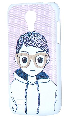 3D Boy Designer Back Case For Samsung Galaxy S4 Mini (White)