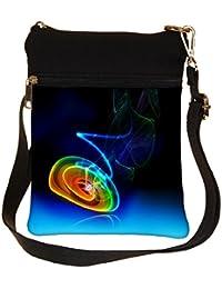 Snoogg Rainbow Circle Cross Body Tote Bag / Shoulder Sling Carry Bag