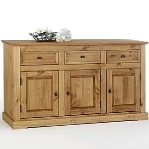 buffet bas kent 3 portes 3 tiroirs cuisine maison. Black Bedroom Furniture Sets. Home Design Ideas
