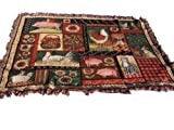 Manual Woodworkers & Weavers Country Collage Tapestry Afghan Throw by Susan Winget