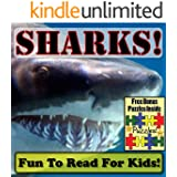 """Shark Children's Book: """"Sweet Sharks! Learning About Sharks - Shark Photos And Facts Make It Fun!"""" (Over 45+ Pictures of Different Sharks)"""