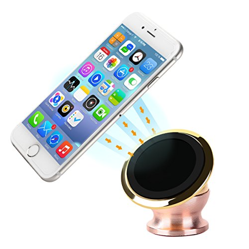Car Mount, K&F Concept [2016 New Release]Magnetic Universal Car Mount 360 Degree Rotatable Stick Anywhere Car Mount on Multiple Locations All Smartphones and Tablets Compatible