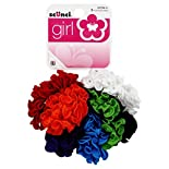 Scunci Girl Scrunchies, Assorted, 8 Scrunchies