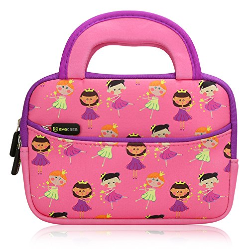 Cheapest Prices! Evecase Cute Fairy Tale Princess Themed Neoprene Carrying Sleeve Case Bag For 7 - 8...