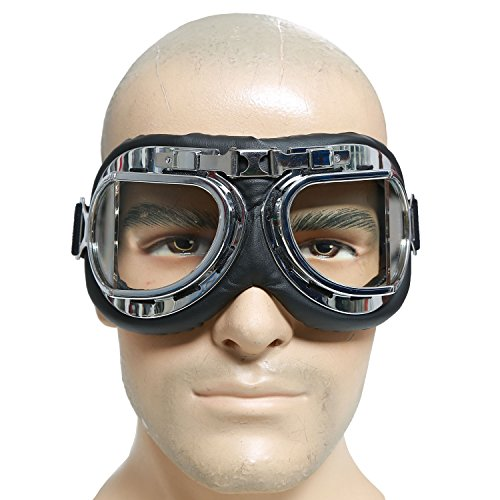 Mad-Max Nux Goggles Vintage Anti-dust Motorcycle Glasses Adjustable Strap 0