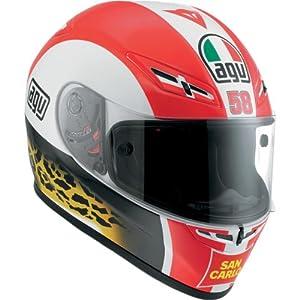 AGV GP-Tech Marco Simoncelli Helmet , Distinct Name: Marco Simoncelli, Gender: Mens/Unisex, Helmet Category: Street, Helmet Type: Full-face Helmets, Primary Color: Red, Size: Lg 0381A8DL001009