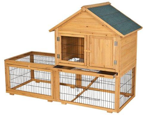 Siena Garden 748836 Holzstall 167x74,5x123cm mit Holzhaus
