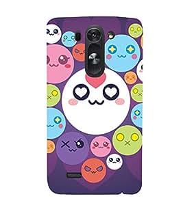 printtech Smiley Circle Memes Back Case Cover for LG G3 Beat / LG G3 Vigor / LG G3s /LG g3s Dual