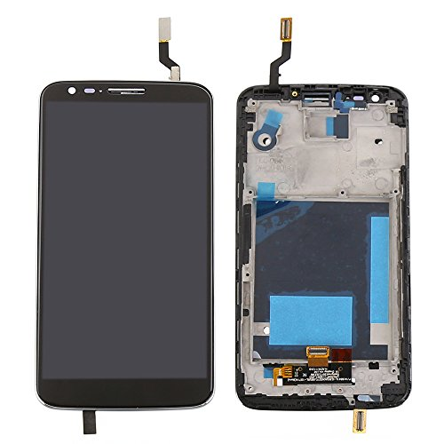 ePartSolution-OEM LG G2 D800 D801 LCD Display Touch Digitizer Screen with Frame Assembly Black Replacement Part USA Seller (Lg G2 Sprint Screen Replacement compare prices)