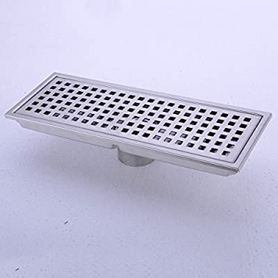 HANEBATH Linear Shower Floor Drain - Made of Sus304 Stainless Steel , 12 Inch Long - Brushed Stainless
