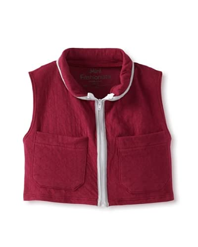 Mini Fashionista Girl's Quilted Vest  [Cranberry]