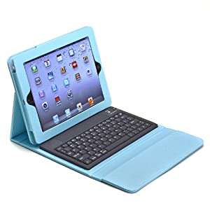 Aduro LIQUA-SHIELD Folio Case with Bluetooth Keyboard for Apple iPad 2, iPad 3 & iPad 4 Generation (Retail Packaging) Turquoise