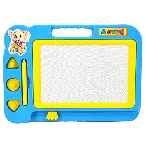 Gotd Kids Black White Magnetic Writing Painting Drawing Graffiti Board Toy Preschool Tool, Blue