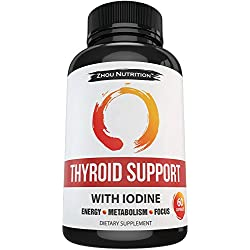 Thyroid Support Complex With Iodine to Improve Energy & Help Lose Weight - Natural Supplement to Increase Concentration, Boost Metabolism & Reduce Brain Fog - 'Feel-Like-Your-Old-Self-Again' Guarantee