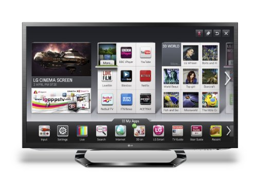LG 55LM620T 55-inch Widescreen Full HD 1080p LED Cinema 3D Smart TV with Freeview HD and 4 Pairs of 3D Glasses