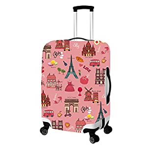 """Fit for 22""""~26"""" Sexy Leopard Suitcases Luggage Suitcase Protector Cover M Leopard"""