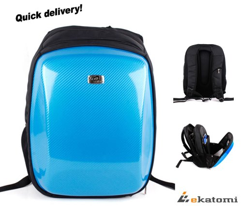Carbon Fiber Look, Hard Case Backpack Laptop