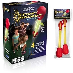 Stomp Rocket Ultra LED Stomp Rocket w/ Extra Ultra LED Stomp Rocket Refills