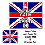 Keep Calm & Carry On Mouse Mat & Coas...