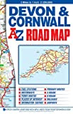 img - for Devon & Cornwall Road Map (A-Z Road Map) book / textbook / text book