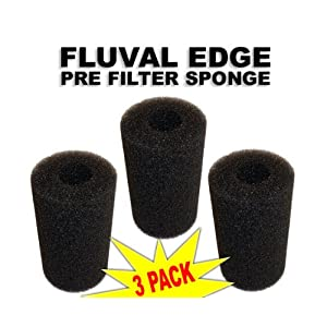 Pre-Filter Sponge 3 Pack for Fluval Edge Aquarium