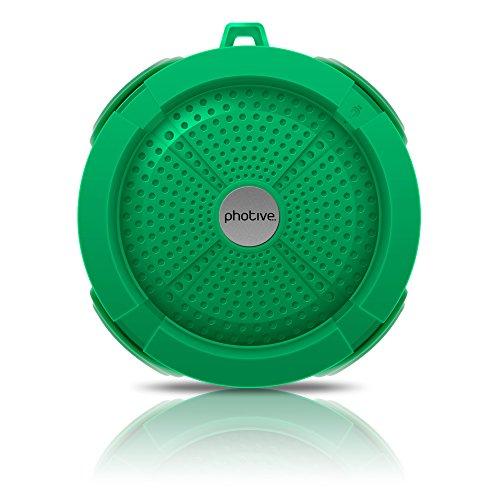Photive Rain Waterproof Portable Bluetooth Shower Speaker Import It All