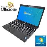 【Microsoft Office2010搭載】【Win 7搭載】HP 4515s/新世代AMD Turion II Ultra 2.4GHz/メモリ4GB/HDD320GB/大画面15インチ/無線LAN搭載/中古ノートパソコン/10キー付キーボード/Windows10無償アップグレード対象