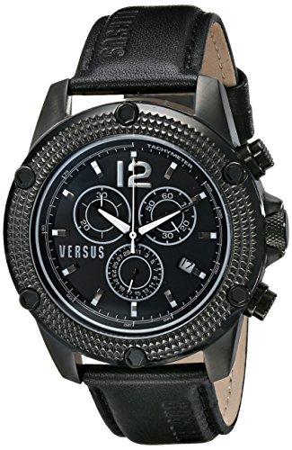 Versus - SOC03 0014 - Montre Homme - Quartz - Chronographe - Bracelet Cuir Noir