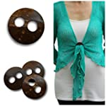 NEW BALI SHRUG FASTEN BUTTON LOOP HOL...