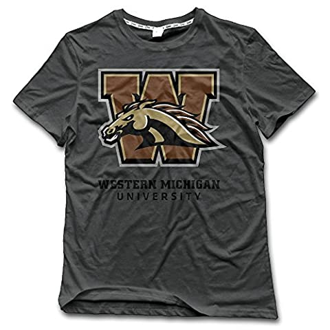 NORAL Western Michigan University Men's Crewneck T-shirt DeepHeather Size XXL
