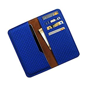 i-KitPit : PU Leather Wallet Flip Pouch Case Cover For Lenovo S660 (BLUE)