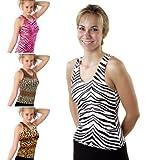 Pizzazz Girls Animal Print Racerback Dance Cheer Tank Top Shirt 2T-16