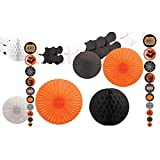 Amscan New Age Scare Halloween Party Assorted Room Decorating Kit (Pack of 9), Multicolor, One Size