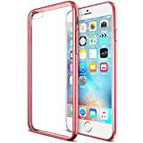 """iPhone 6S Case, Maxboost® [Liquid Skin] iPhone 6 Case [0.4mm] Soft Flexible Extremely Thin Gel TPU Skin *Feels Like Nothing There* Scratch-Proof iPhone 6 (2014) / 6S 4.7"""" (2015) Cover - Rose Gold"""