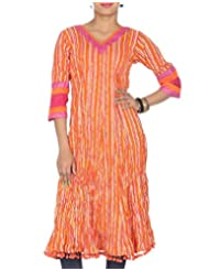 Rajrang Women Printed Tops Tunic Long Kurti Size M
