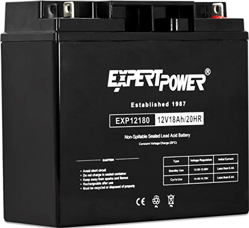 ExpertPower EXP12180 12 Volt 18 Ah Rechargeable Battery with Nuts and Bolts (Battery 12v Deep Cycle compare prices)