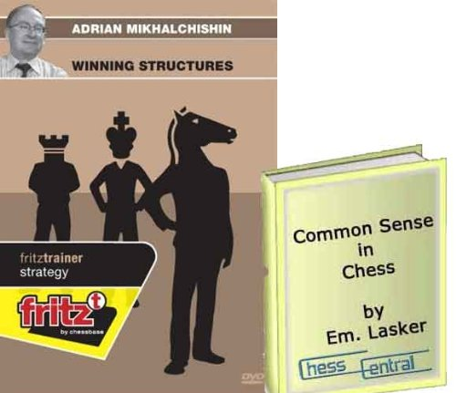 "Adrian Mikhalchishin: Winning Structures Chess Software & ChessCentral's ""Common Sense in Chess"" E-book (2 Item Bundle)"