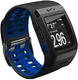 Nike+ SportWatch GPS Laufuhr powered by TomTom, schwarz mit blauer Innenseite, ohne Schuhsensor, Modell 2012