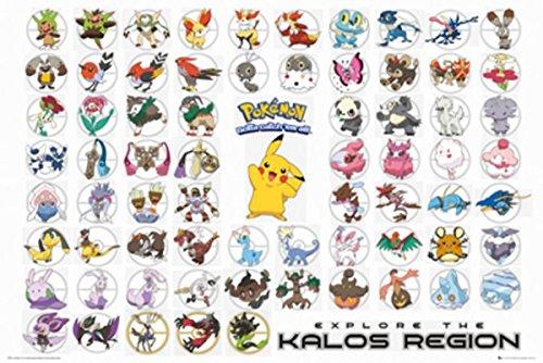 GB eye LTD, Pokemon, Kalos Region, Maxi Poster, 61 x 91,5 cm