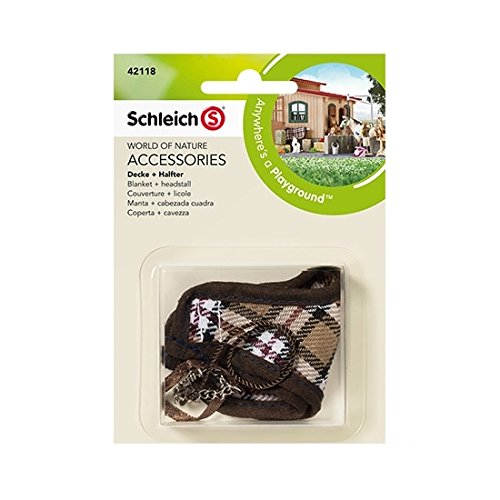 Schleich 42118 Blanket and Headstall (Brown)