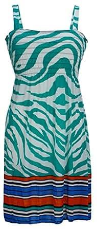 NY Deal Women's Smoked Tube Dress Cover Up, 40-Aqua, Medium