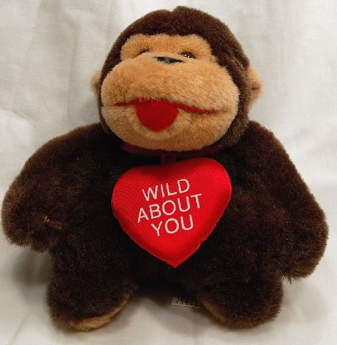 Wild About You Gorilla Stuffed Animal Plush Toy - 7 inches tall