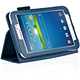 """MOFRED® Royal Blue Samsung Galaxy Tab 3 7"""" Case-MOFRED® Retail Packed Executive Multi Function Standby Case For Samsung Galaxy Tab 3 7.0 -7 inch Tablet + Screen Protector + Stylus Pen (Available in Mutiple Colors)"""