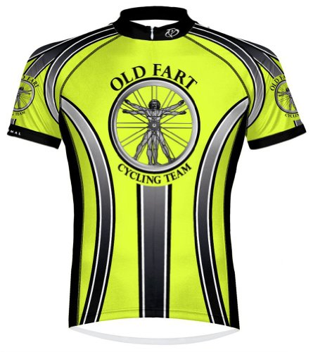 Primal Wear Old Fart Vitruvian Man Cycling Jersey Men's XXL High Visibility (Old Cycling Jersey compare prices)