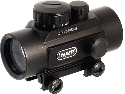 Leapers Golden Image 30mm Red/Green Dot Sight, Integral Weaver Mount (SCP-RD40RGW)