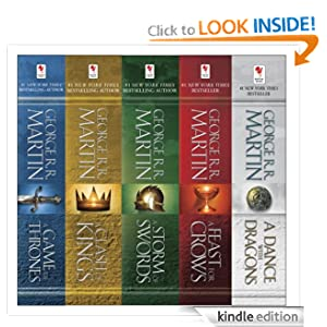 Amazon - George R. R. Martin's A Game of Thrones 5-Book Box - $9.99