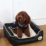 [新作店舗] ペット用ベッド・マット 犬 猫 ドーム スクエア型 ふかふかハウス 柔らかい ぐっすり眠る クッション かわいい ブラック